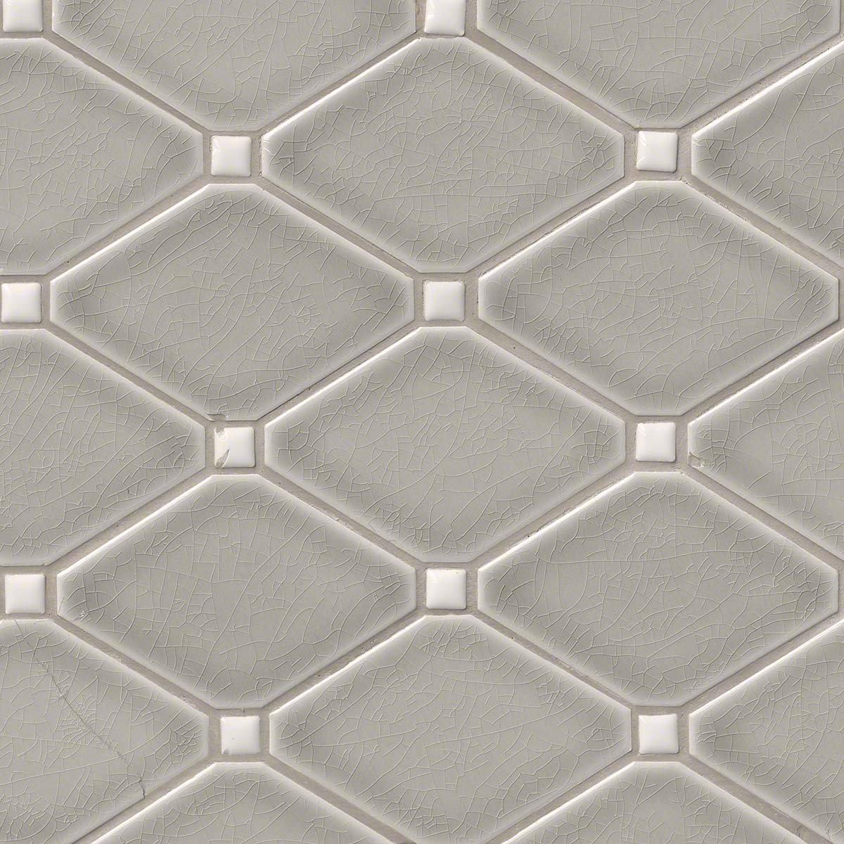 Dove gray diamond 8mm mosaic tile amazon dailygadgetfo Gallery