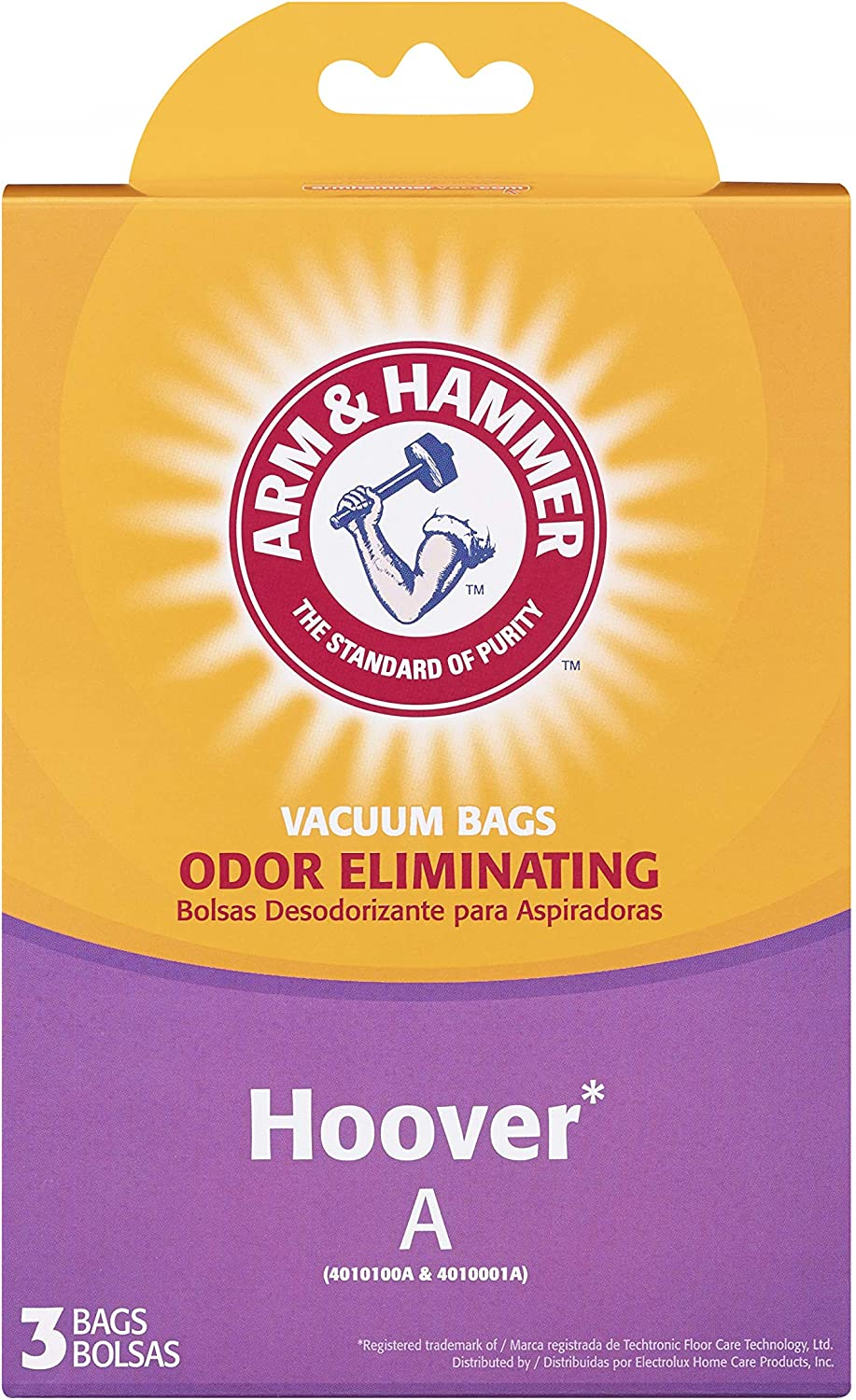 Arm & Hammer Hoover Type A/Bissell Style 2 Standard Allergen Vacuum Bag (3 Pack), White