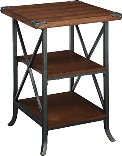 Convenience Concepts Brookline End Table, Dark Walnut
