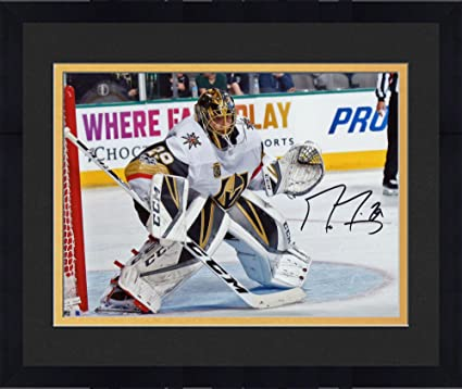4cd181c75 Framed Marc-Andre Fleury Vegas Golden Knights Autographed 8 quot  x  10 quot  Franchise Inaugural