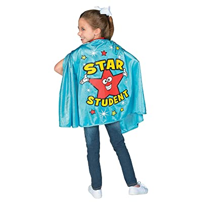 Fun Express Blue Star Student Cape - Apparel Accessories - 1 Piece: Clothing