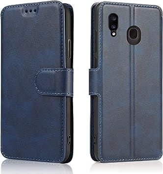 LeYi Funda Samsung Galaxy A20e con HD Protector Pantalla,Carcasa Libro Tapa Silicona Cuero Cartera Case Flip Leather Wallet Slim Bumper Antigolpes Cover para Movil Samsung A20e,Azul: Amazon.es: Electrónica