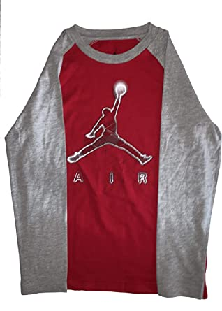 d25b4b9712c Amazon.com: NIKE Big Boys Jordan Jumpman Dri-Fit Long-Sleeve T-Shirt ...