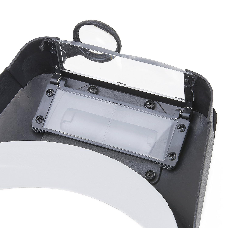 Carson LumiVisor Kopflupe mit 2x//3x//5x//6x Vergr/ö/ßerung und LED-Beleuchtung schwarz