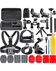 Neewer 21-In-1 Action Camera Accessory Kit for GoPro Hero Session/5 Hero 1 2 3 3+ 4 5 6 7 SJ4000 5000 6000 DBPOWER AKASO VicTsing APEMAN and Sony Sports DV and More
