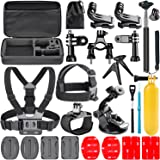 Neewer 21-in-1 Accessori Kit per GoPro Hero Session 5, Hero 1 2 3 3+ 4 5 6, SJ4000 5000 6000 DBPOWER AKASO VicTsing APEMAN WiMiUS Rollei QUMOX Lightdow Campark e Sony Sport Dv e più