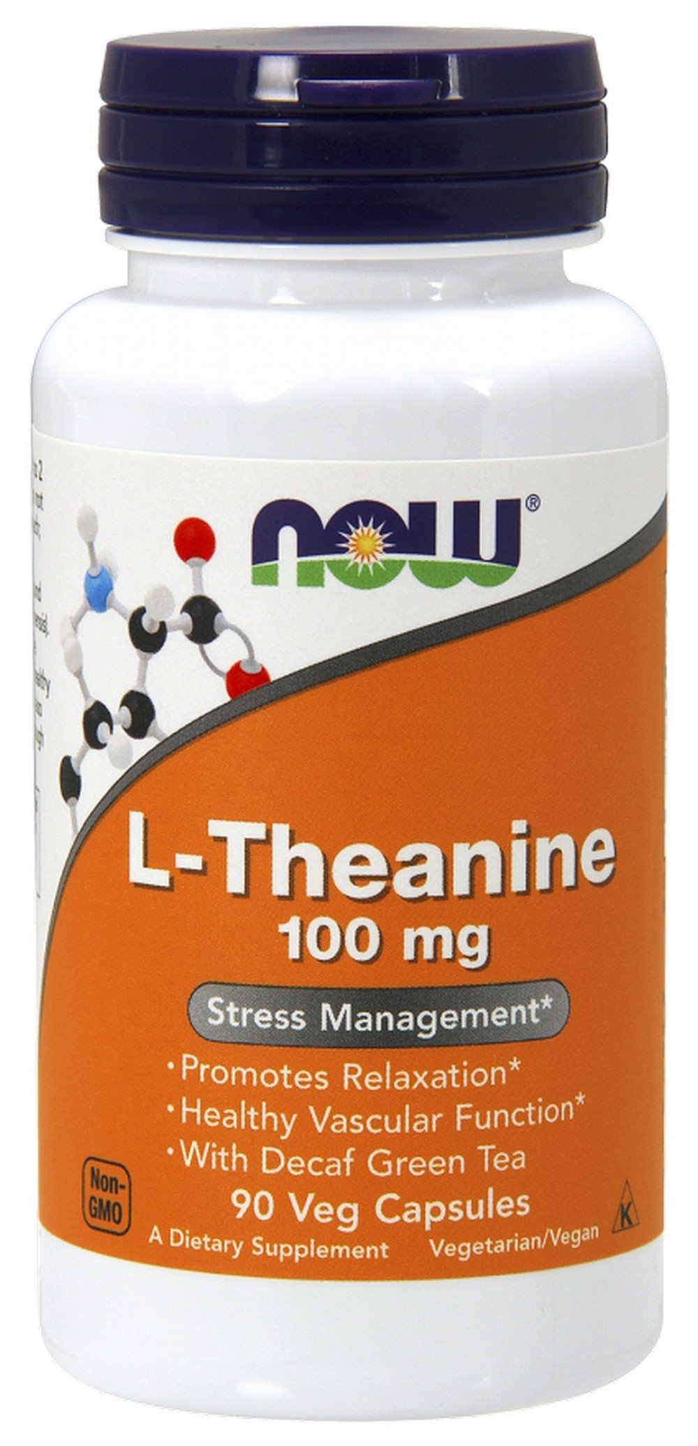 NOW L-Theanine, 100 mg, 90 Veg Capsules