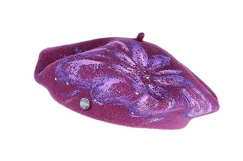 Complit ®, Donna, cappello invernale, basco lana, dipinto a mano, 100%MadeInItaly