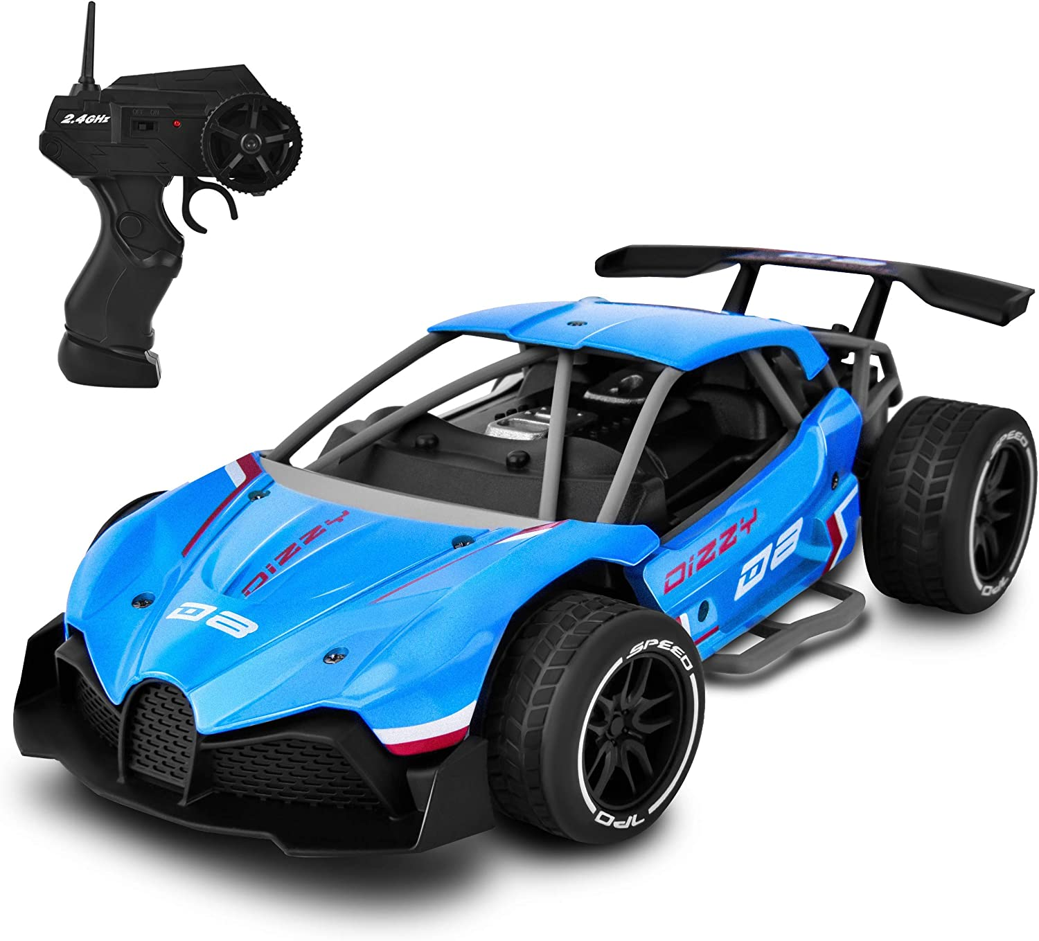 Amazon Com 1 16 Fast Electric Rc Racing Cars With Metal Body