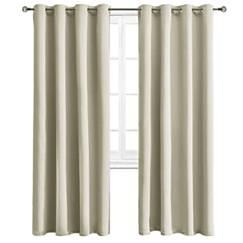 Amazoncom Wontex Blackout Curtains Room Darkening Thermal