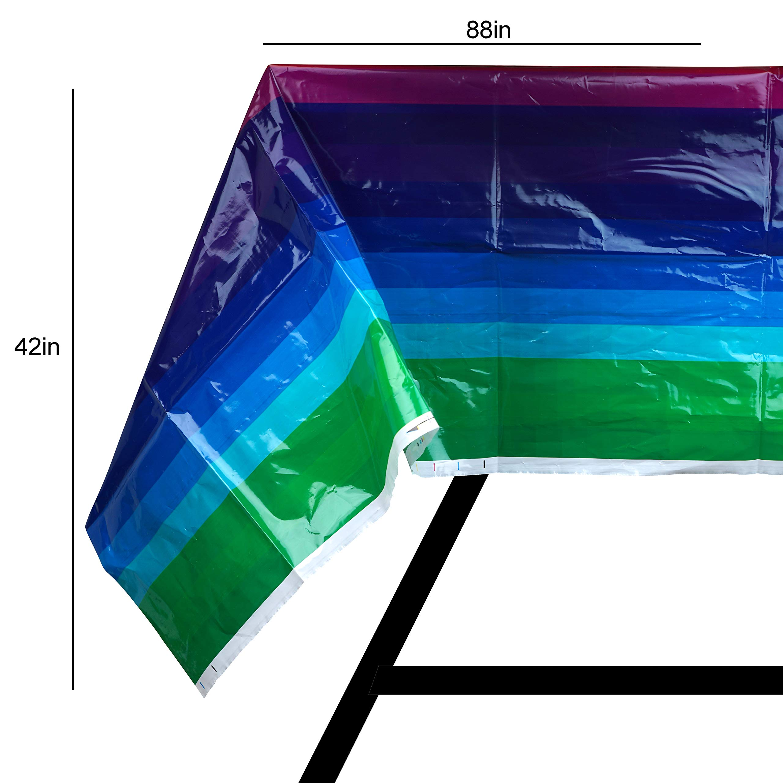 82 Piece Rainbow Party Set Including Banner, Plates, Cups, Napkins and Tablecloth, Serves 20 by Scale Rank (Image #7)