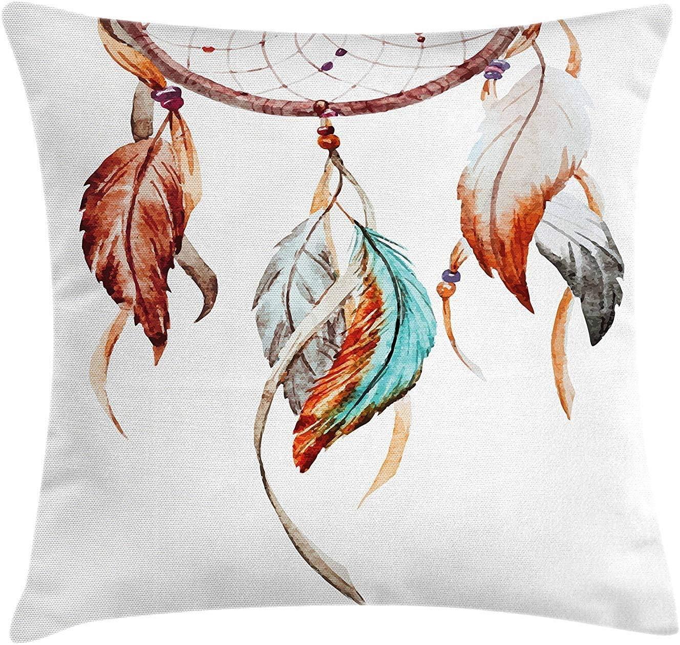 crow bird dreamcatcher retro boho cushion cover throw pillow case