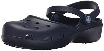 1db448bc617446 crocs Women s Karin Navy Clogs -W5 (202494-410)  Buy Online at Low ...