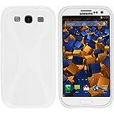 mumbi X-TPU Silikon Schutzhülle für Samsung Galaxy S3 i9300 / S3 Neo Hülle blickdicht rein weiss