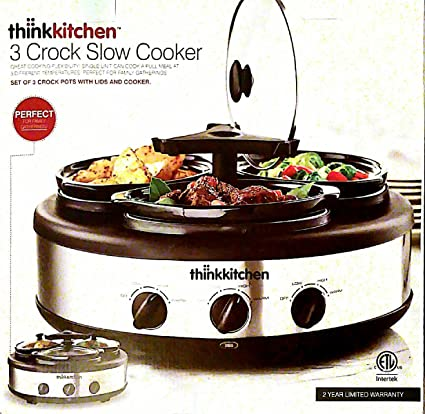 think kitchen 3 x 15qt triple slow cooker - Think Kitchen