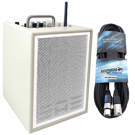Elite Acoustics A1 – 4 CRM amplificadores de guitarra de 3 canales Mini PA Box batería