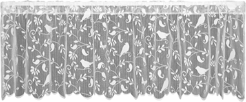 Heritage Lace Bristol Garden Valance, 60 by 18-Inch, White,6305W-6018