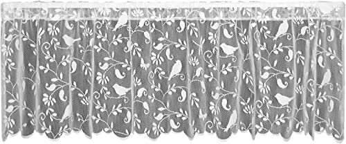 Heritage Lace Bristol Garden Valance, 60 by 18-Inch, White