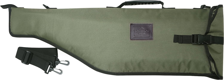 Tourbon Caza Escopeta Gun Rifle Bolsa de almacenamiento con correa de hombro ajustable - Verde con Brown Trim (Breakdown Shotgun)