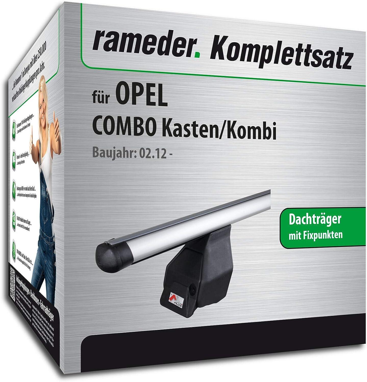 118849-10000-1 Dachtr/äger Tema f/ür OPEL Combo Kasten//Kombi Rameder Komplettsatz