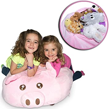 Jumbo Stuffed Animal Storage Bean Bag Chair   Super SOFT Fabric Kids Love    3 Plush