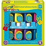 Crayola Mini Kids 7958 Set Pittura a Dita Con 8 Tubetti In Colori Assortiti, Lavabile, Età 24 Mesi, per Asilo e Tempo Libero