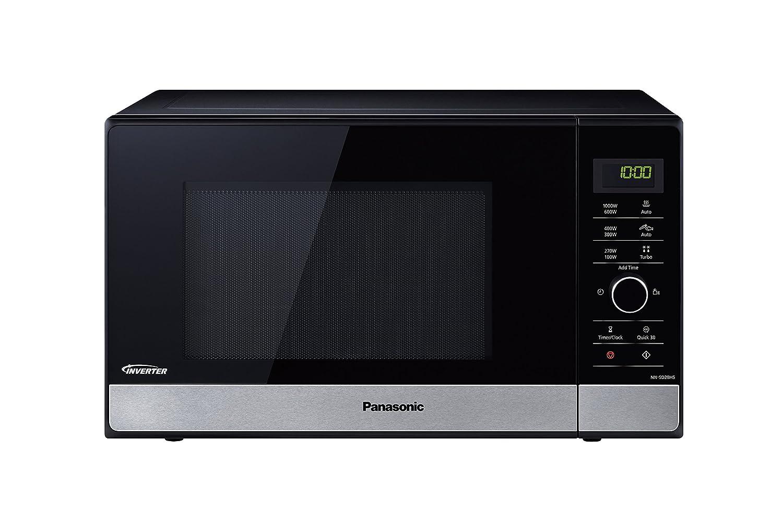 Panasonic NN-SD28HSGTG Encimera Solo - Microondas (Encimera, Solo microondas, 23 L, 1000 W, Giratorio, Tocar, Negro, Acero inoxidable)