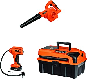 Armor All, CKA203A, 20V Cordless 3-Tool Kit 20V Wet/Dry Utility Shop Vacuum