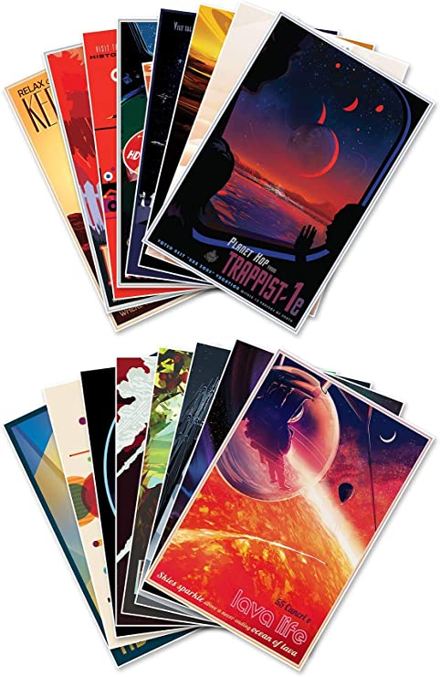 Amazon Com The Complete Set Of Sixteen 16 Nasa Jpl S Jet Propulsion Lab Visions Of The Future Space Travel Prints Each Measure 18 Wide X 24 High 458mm Wide X 610mm High