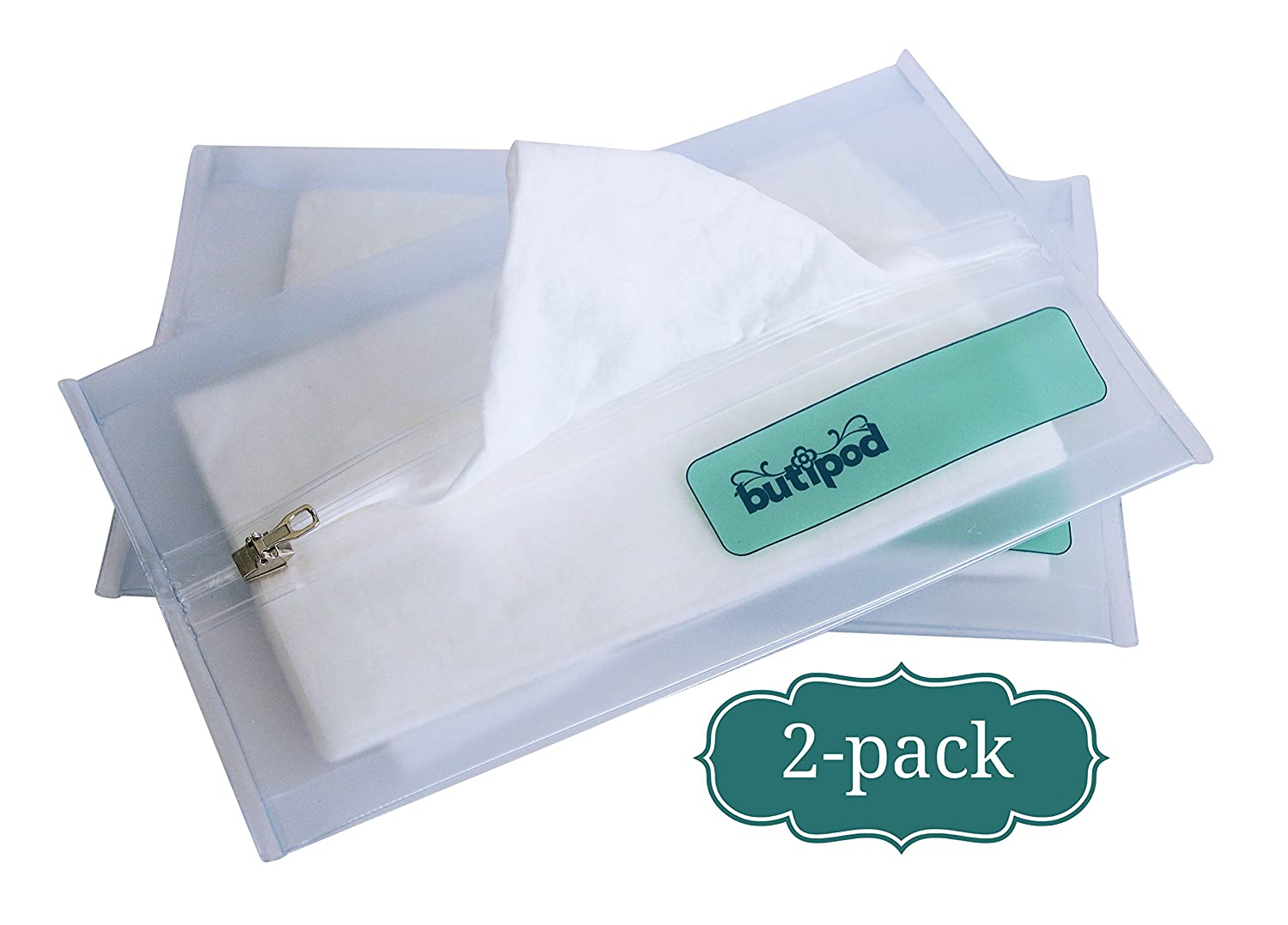 Amazon.com : Buti-pods Zippered Refillable Wet Wipes Case, 2 Pack,  Translucent : Baby Wipe Holders : Baby