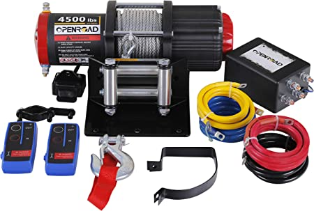 4500Lb ATV/UTV 12V Electric Winch with 49ft Cable,Wireless Winch Kit