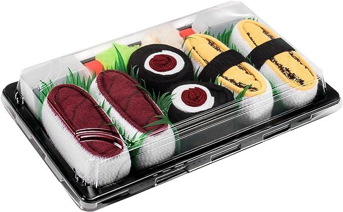 Rainbow Socks 3 Pares Mujer Hombre Calcetines Sushi Tamago At/ún Maki de At/ún