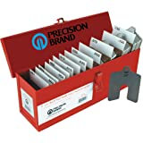 """Stainless Steel Slotted Shim Full Assortment, Size A, 2"""" x 2"""" (Pack of 260)"""