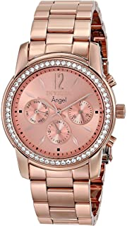 Invicta Womens 11774 Angel Rose Tone Dial 18k Rose Gold Ion-Plated Stainless Steel Watch