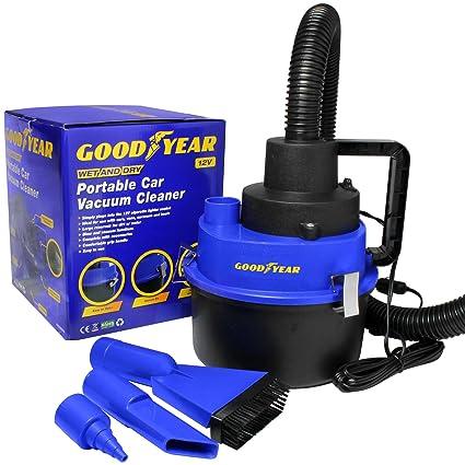 d1e8a86962f Goodyear 12V Wet Dry Car Vacuum Cleaner Portable Handheld Van Cigarette  Lighter  Amazon.co.uk  DIY   Tools
