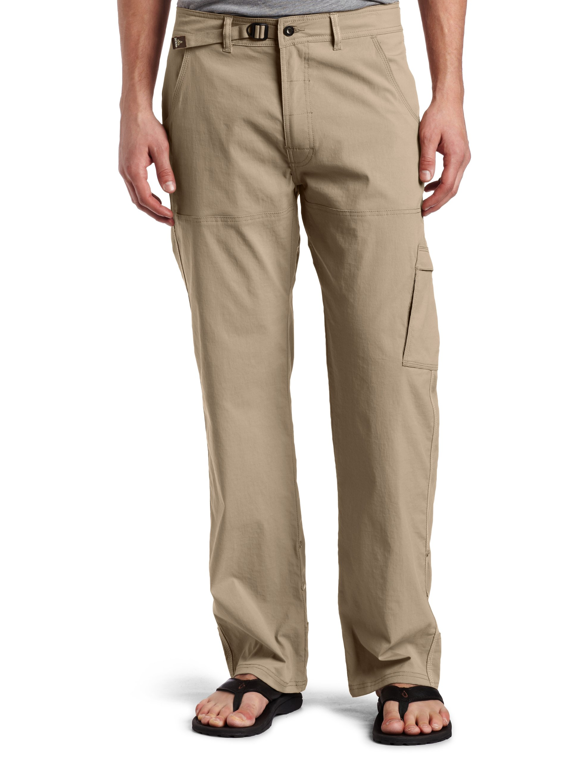 prAna - Men's Stretch Zion Lightweight, Durable, Water Repellent Pants for Hiking and Everyday Wear, 36'' Inseam, Dark Khaki, 34 by prAna