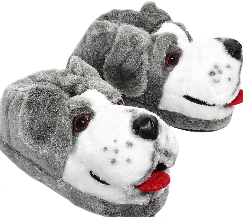 Sleeper'z - Perro Pastor - Zapatillas de casa Animales Originales y Divertidas - Adultos y Niños - Hombre y Mujer
