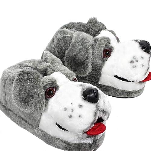 Sleeperz – Perro pastor – Zapatillas de casa animales originales y divertidas – Adultos
