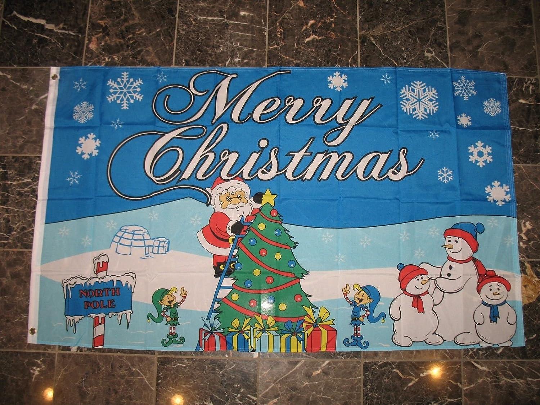 【超歓迎】 3 ' x 5 North North Pole Merry Christmas Northpoleサンタクロースフラグ3 Christmas ' x5 'バナー B01MU0PPFM, ガーデン太郎:3a73c159 --- goumitra.com