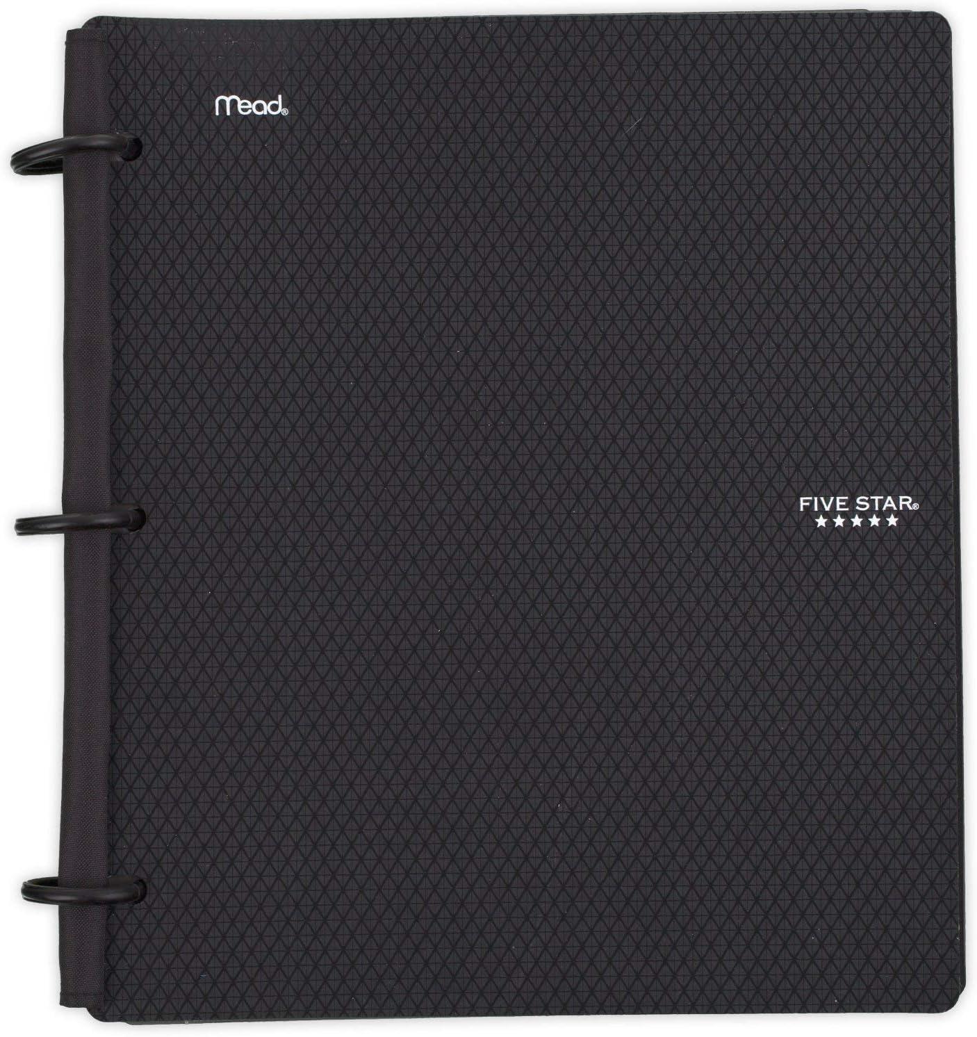 Five Star Flex Hybrid NoteBinder, 1 Inch Binder, Notebook and Binder All-in-One, Black (72009)