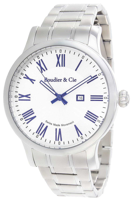Boudier & Cie Reloj analogico para Hombre de Cuarzo con Correa en Acero Inoxidable BS-SM-210