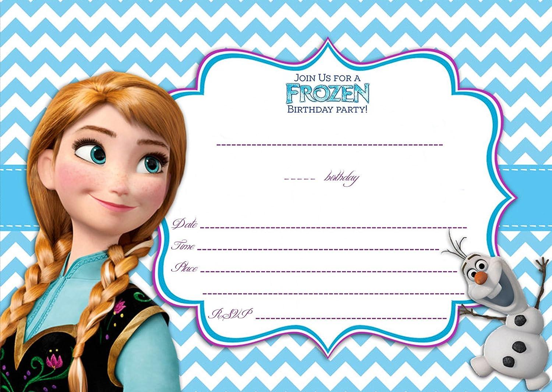Großartig Die Eiskönigin U2013 Völlig Unverfroren 12 Geburtstags Einladungen Anna Und  Olaf: Amazon.de: Bürobedarf U0026 Schreibwaren