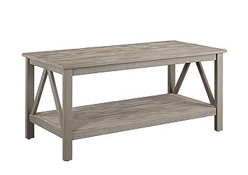 sc 1 st  Amazon.com & Amazon.com: Linon Titian Rustic Gray Coffee Table: Kitchen u0026 Dining