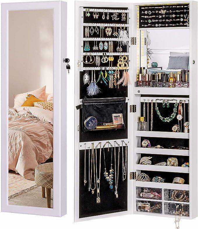 My Home Armoire /à Bijoux Blanche avec Cadre Photo pour 12 Photos