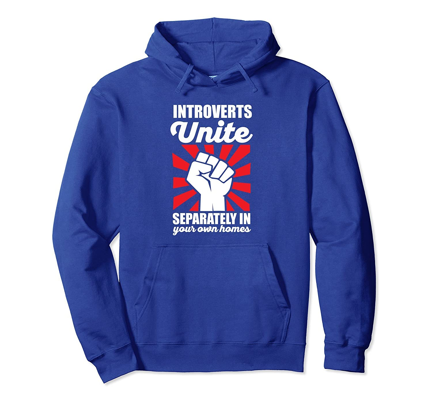 Introverts Unite Separately in Home Hoodie (Dark)-fa