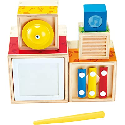 ODYSSEY Hape Stacking Music Set | Colorful 6 Piece Musical Box Toy, Wooden Set for Kids 18 Months+: Toys & Games