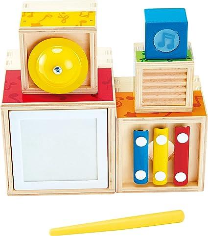 Hape E0336 Wooden Musical Instrument Stacking Set: Amazon.co.uk: Toys &  Games