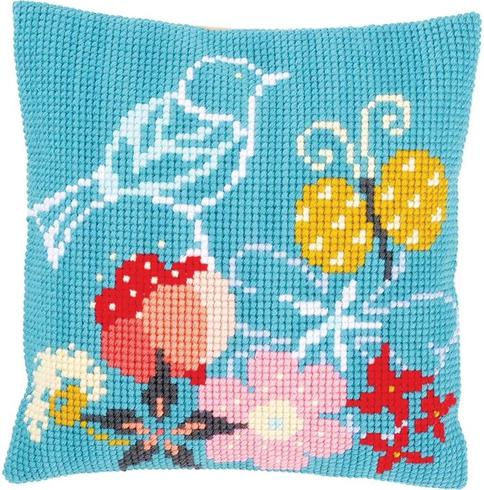 Vervaco in My Garden Pillow Cover Needlepoint Kit