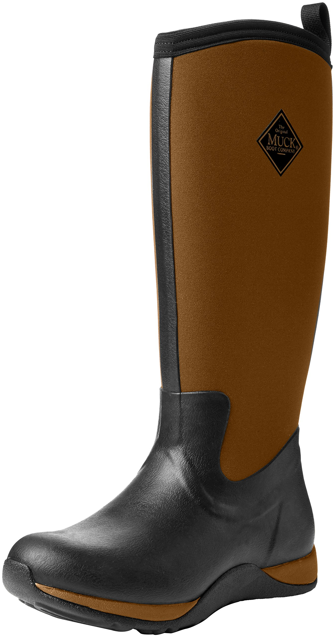 Muck Boot Women's Arctic Adventure Tall Snow Boot, Black/Tan, 9 US/9 M US by Muck Boot