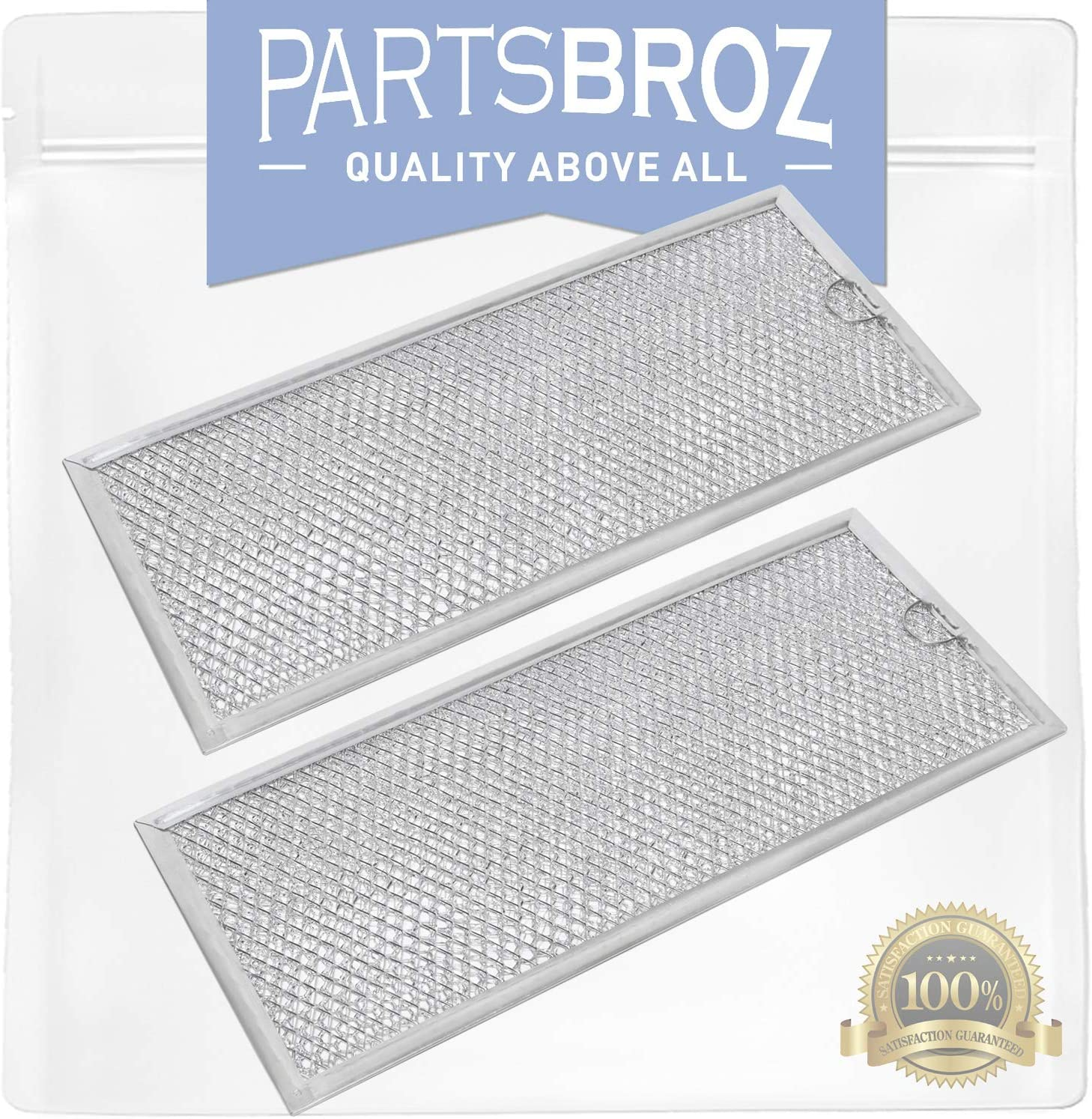 WB06X10596 (2-Pack) Air Filter for GE Microwaves by PartsBroz - Replaces Part Numbers AP3792368, 1085087, AH952418, EA952418, PS952418